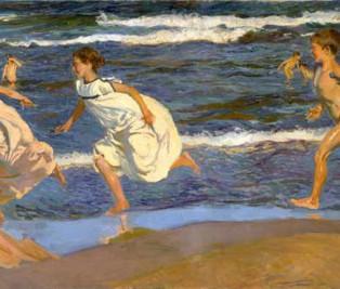 Joaquín Sorolla, corriendo por la playa