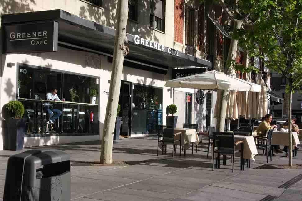 Greener con terraza en la calle serrano te veo en - Restaurante greener ...