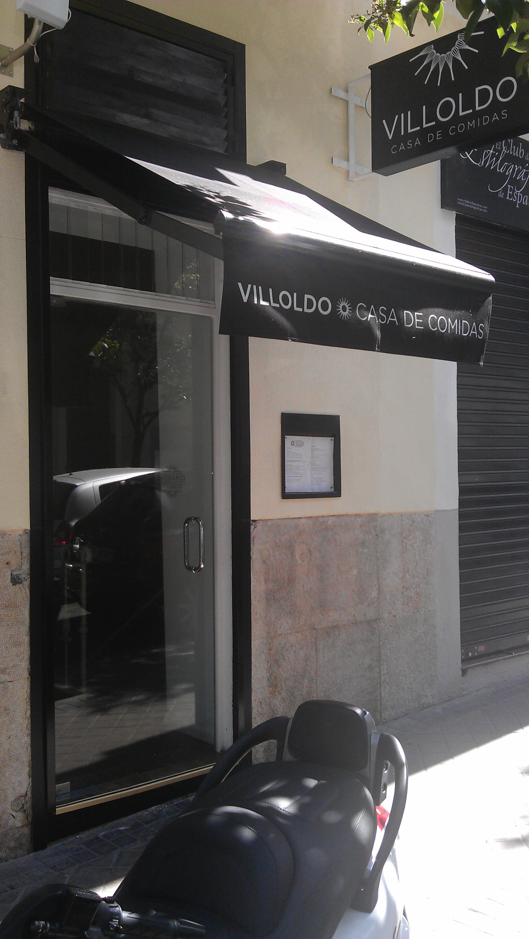 Restaurante Villoldo fachada Te Veo en Madrid