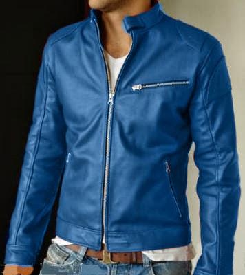 fb1787aae9e01 Chaqueta de cuero hombre azul ELegans - Te Veo en MadridTe Veo en Madrid