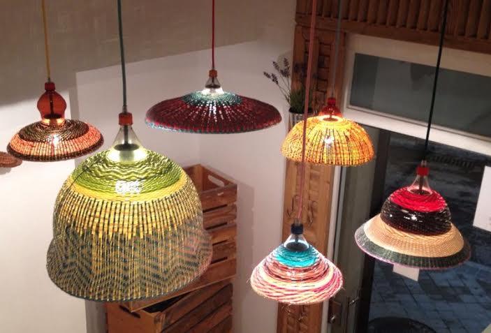 Restaurante Mr. Frank lámparas escalera Te Veo en Madrid