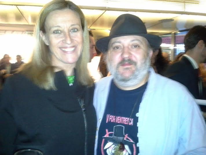 Con Sacha Hormaechea presentación libro Coque