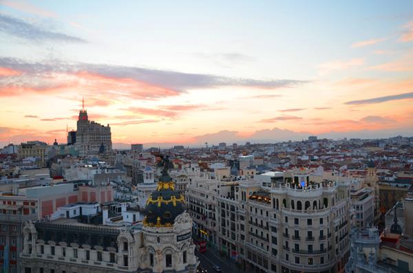 Vistas desde en Circulo de Bellas Artes. Tartan Roof Te Veo en Madrid