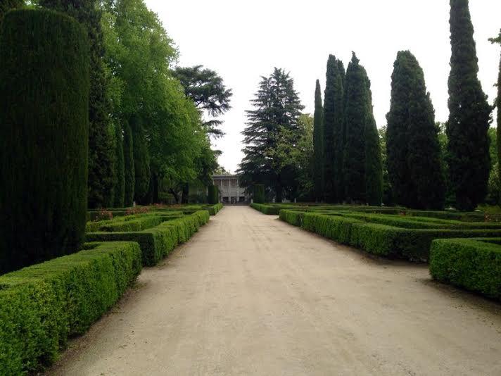 Paseo central parque de El Capricho