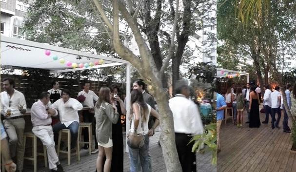 Inauguración terraza Doña Tecla Te Veo enMadrid mural