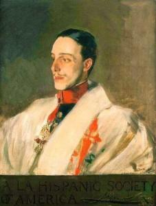 Joaquín Sorolla retrato de Alfonso XIII