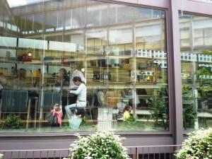 Restaurante Bosco de Lobos a través de la cristalera Te Veo en Madrid
