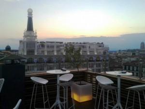 Club Argo terraza vistas hotel Te Veo en Madrid