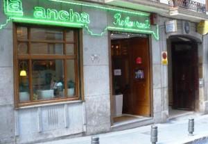 Restaurante La Ancha Zorrilla fachada Te Veo en Madrid
