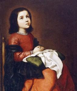 La Virgen niña Zurbarán Te Veo en Madrid