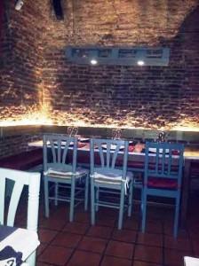 Restaurante Charlie Champagne comedor interior Te Veo en Madrid