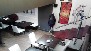 Restaurante Entreplanta escalera Te Veo en Madrid