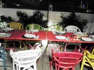 Restaurante Teresa pon la mesa terraza Te Veo en Madrid
